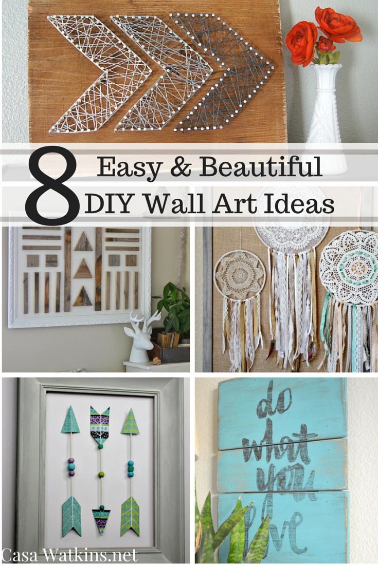 8 easy and beautiful diy wall art ideas casa watkins living Simple wall art