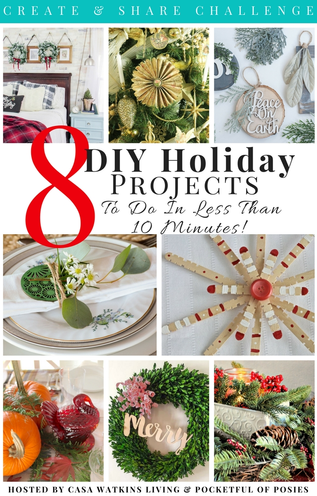 DIY holiday projects to do in less than 10 minutes!