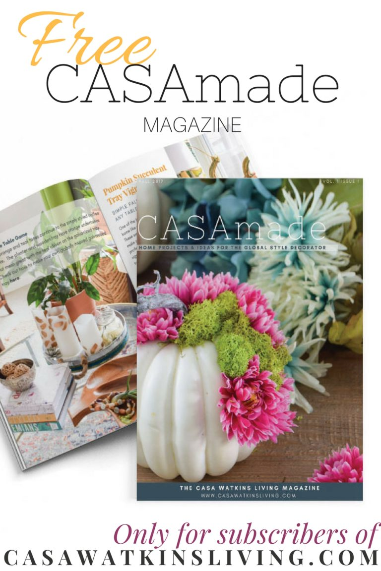 Free global boho style magazine for subscribers of Casa Watkins Living