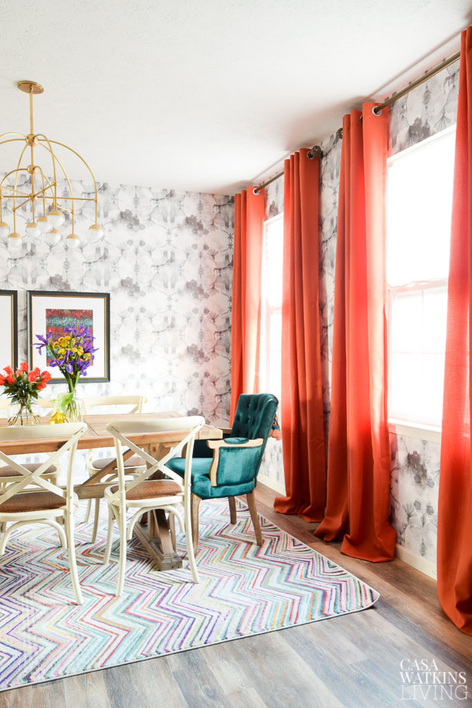 Modern Bohemian Dining Room Reveal Nynr Refresh Challenge Casa Watkins Living
